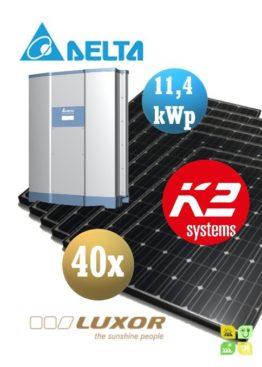 Sistem fotovoltaice complet - 40 panouri fotovoltaice LUXOR 280wp și Invertor cu WiFi de 11,4 kWp DELTA