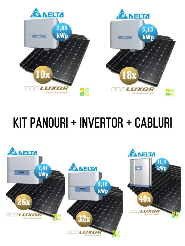 Kit complet panouri fotovoltaice + invertor + cabluri și mufe - Self-energy - sistem fotovoltaic complet