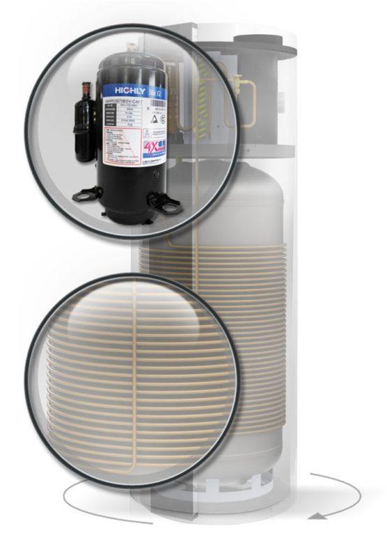 Compresor Hitachi - Pompă de căldură aer apă Invest Living - Pompe de căldură SCANDINAVE - Calitate suedeză - Bonus Air 12 - Self-Energy