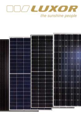 Gama larga de panouri fotovoltaice de cea mai buna calitate de la LUXOR
